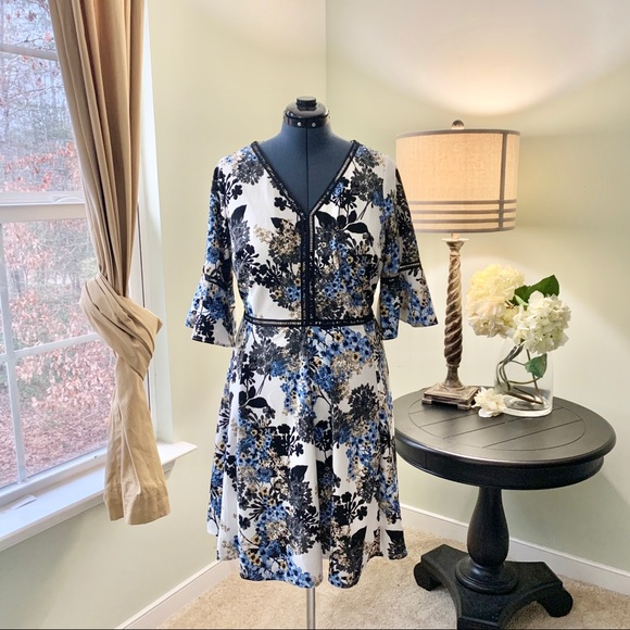 Lane Bryant Dresses & Skirts - Lane Bryant Floral Fit and Flare Dress Size 14